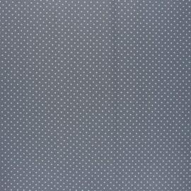 Tissu coton cretonne enduit Poppy Petit dots - gris x 10cm