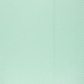 Tissu coton cretonne enduit Poppy Petit dots - vert x 10cm