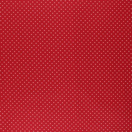 Poppy Coated cretonne cotton fabric - red Petit dots x 10cm