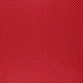 Tissu coton cretonne enduit Poppy Petit dots - rouge x 10cm