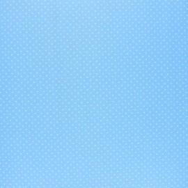 Tissu coton cretonne enduit Poppy Petit dots - bleu ciel x 10cm