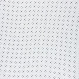 Poppy Coated cretonne cotton fabric - white Petit dots x 10cm