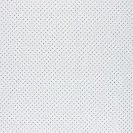 Tissu coton cretonne enduit Poppy Petit dots - blanc x 10cm