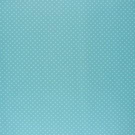 Tissu coton cretonne enduit Poppy Petit dots - vert céladon x 10cm