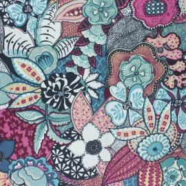Tissu coton cretonne enduit Suzann - violet x 10cm