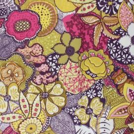 Tissu coton cretonne enduit Suzann - jaune x 10cm