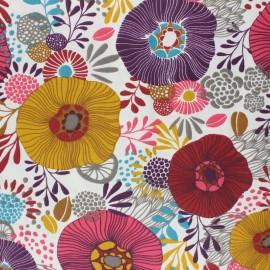 Tissu coton cretonne enduit Chidori - rose x 10cm