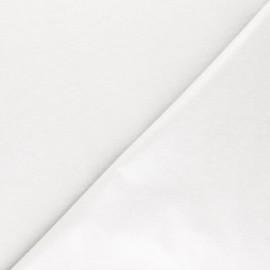 Tissu PUL jersey coton uni - blanc x 10cm