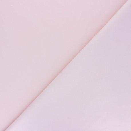 Tissu Popeline de coton uni Nébulia - Rose poudré x 10cm