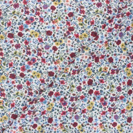 Tissu popeline de coton Capucine - rouge x 10cm