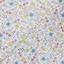 Tissu popeline de coton Élise - rose pastel x 10cm