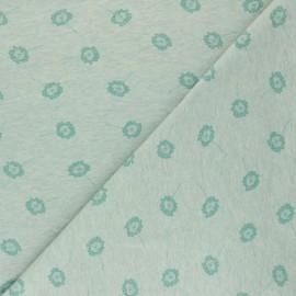 Cotton Jersey fabric - Green Dandelion x 10cm