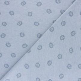 Cotton Jersey fabric - Blue Dandelion x 10cm
