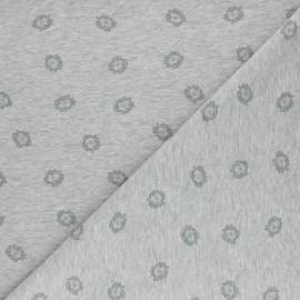 Cotton Jersey fabric - Grey Dandelion x 10cm