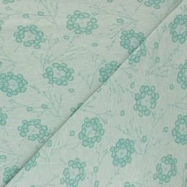 Cotton Jersey fabric - Green Pisselia x 10cm