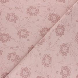 Cotton Jersey fabric - Pink Pisselia x 10cm