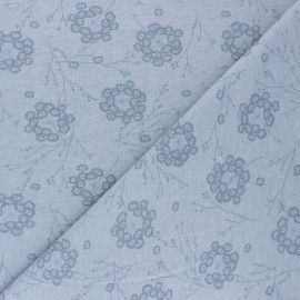 Tissu jersey Pisselia - Bleu x 10cm
