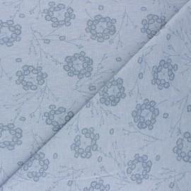Cotton Jersey fabric - Blue Pisselia x 10cm