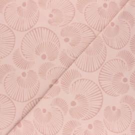 Tissu jersey Circles - Rose x 10cm