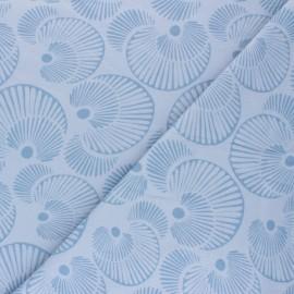 Tissu jersey Circles - Bleu x 10cm