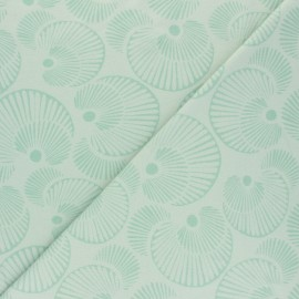 Tissu jersey Circles - Vert x 10cm