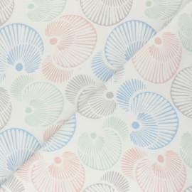 Cotton Jersey fabric - raw Circles x 10cm
