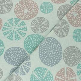 Tissu sweat Nalou - vert chiné x 10cm