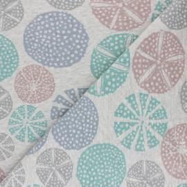 Tissu sweat Nalou - gris chiné x 10cm