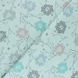 Tissu sweat Cueillette - vert chiné x 10cm