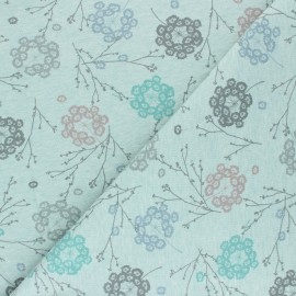 Sweatshirt fabric - mottled green Cueillette x 10cm
