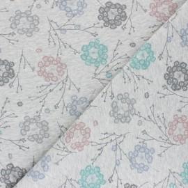 Tissu sweat Cueillette - gris chiné x 10cm
