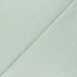 Tissu jersey uni Nali - vert chiné x 10cm