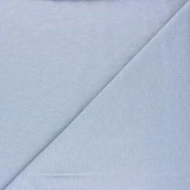 Tissu jersey uni Nali - bleu chiné x 10cm