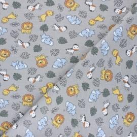 Cotton Jersey fabric - Grey Cuty savanna x 10cm