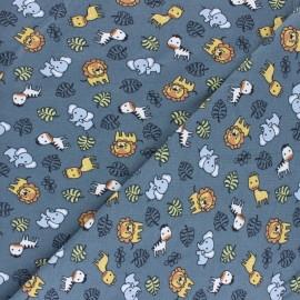 Cotton Jersey fabric - Blue Cuty savanna x 10cm