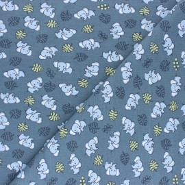 Cotton Jersey fabric - Blue Cuty elephant x 10cm