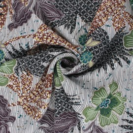 Viscose Fabric - green Chally x 10cm