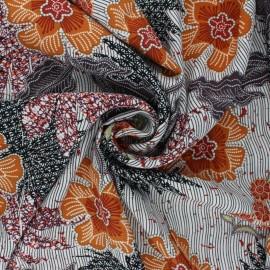 Viscose Fabric - orange Chally x 10cm