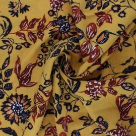 Viscose Fabric - ochre Kaduna x 10cm