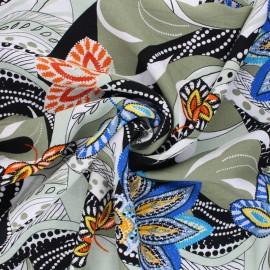 Viscose Fabric - green Maradi x 10cm