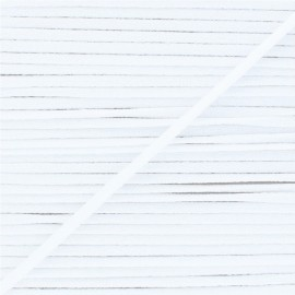 5 mm Soft facemask elastic - White x 1m