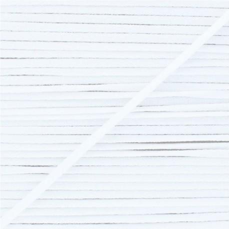 Elastique masque ultra doux 5 mm - Blanc x 1m