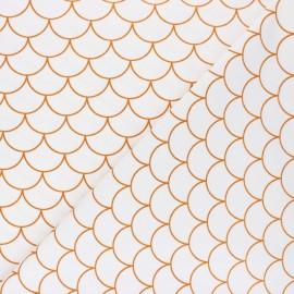 Tissu coton jersey Stenzo Scaglie - blanc x 10cm