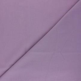 Tissu voile polycoton uni - Figue x 10cm
