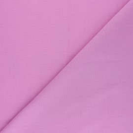 Tissu voile polycoton uni - rose glycine x 10cm