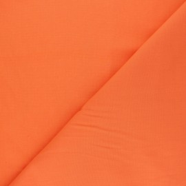 Tissu voile polycoton uni - mandarine x 10cm
