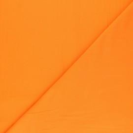 Tissu voile polycoton uni - jus d'orange x 10cm