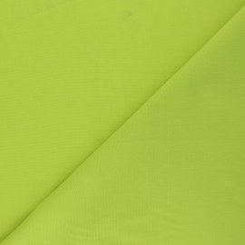 Polycotton voile fabric - lime green x 10cm