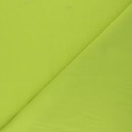 Tissu voile polycoton uni - vert anis x 10cm