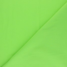 Polycotton voile fabric - apple green x 10cm